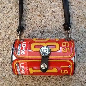 Handbags - License Plate 400 Anniversry Orang Crossbody Purse